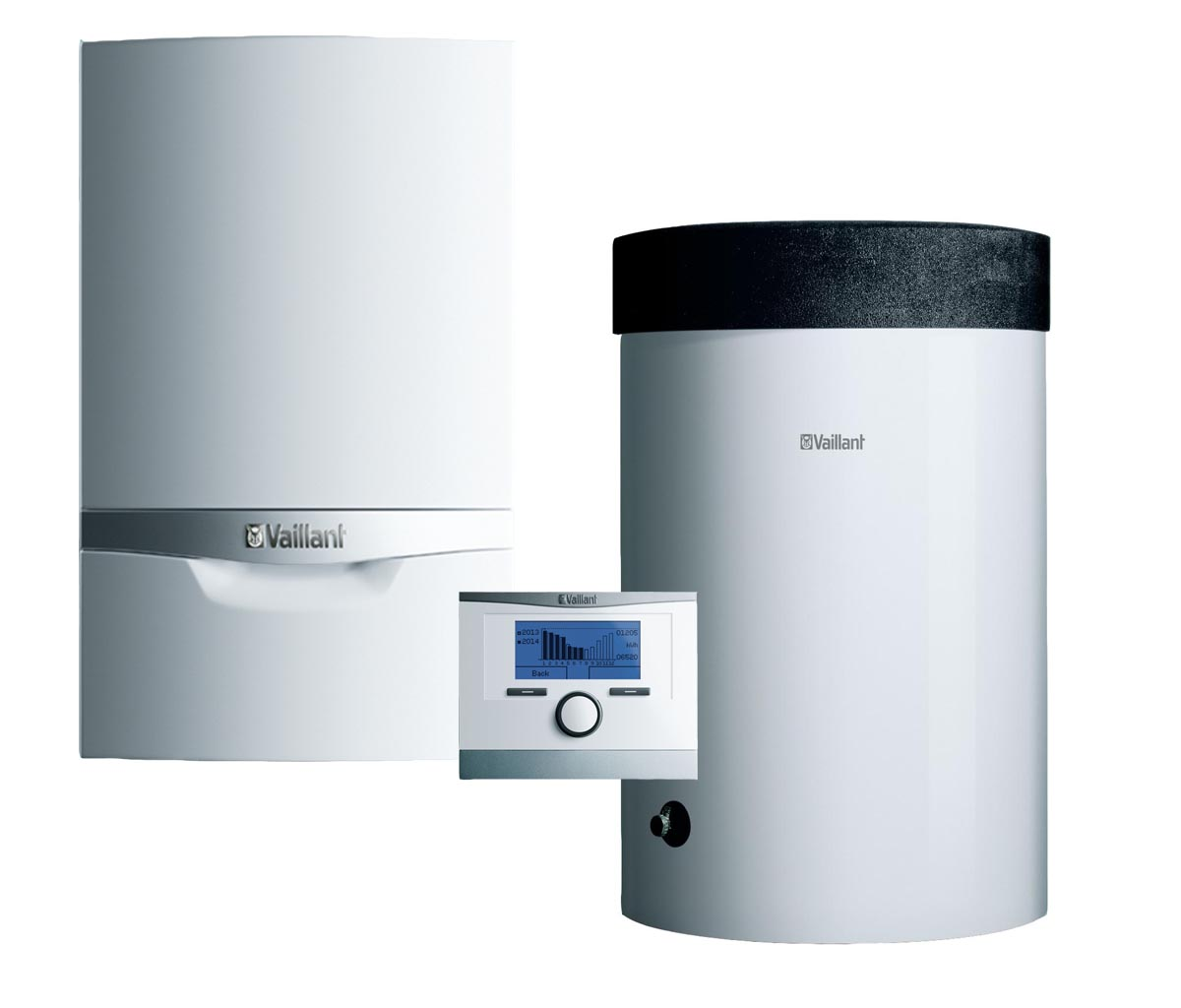 Vaillant ecoTEC plus VU INT 146/5-5 + VIH R 120 B + snímač TV